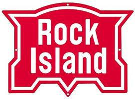 Microscale Embossed Die-Cut Metal Sign - Rock Island Model Railroad Print Sign #10017