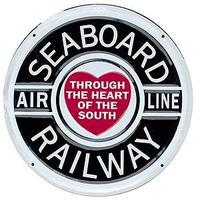 Microscale Embossed Die-Cut Metal Sign - Seaboard Air Line Model Railroad Print Sign #10019
