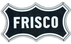 Microscale Embossed Die-Cut Metal Sign St. Louis San Franciso Frisco Model Railroad Print Sign #10028