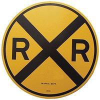 Microscale 18 Heavy Duty Aluminum Sign - Railroad Crossing Model Railroad Print Sign #10201