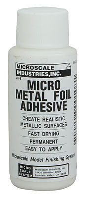 Microscale Inc Micro Metal Foil Adhesive 1oz -- Model Railroad Decals -- #116