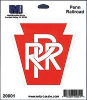 Microscale 4 Die-Cut Vinyl Stickers - Pennsylvania Railroad Model Railroad Print Sign #20001