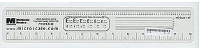 Microscale Clear (See-Through) HO Scale Ruler Model Railroad Scratch Supply #31