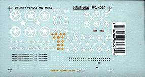 Microscale Mini-Cal All Vehicles Tanks, Jeeps, etc. (1940s+) HO Scale Model Railroad Decal #4279