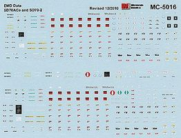 Microscale EMD SD70ACe & SD70-2 Data Only HO Scale Model Railroad Decal #5016