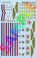 Microscale Freedom Train 1947-1949 ALCO PA Diesel & Passenger Cars N Scale Model Railroad Decal #601065
