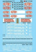 Microscale DUPX & ARCO Polymers KCIX Plastics CenterFlow Hoppers N Scale Model Railroad Decal #601451