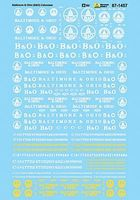 Microscale Baltimore & Ohio B&O Cabooses N Scale Model Railroad Decal #601457