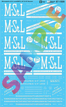 Microscale Inc Minneapolis & St. Louis MSTL 40' & 50' Boxcars -- N Scale Model Railroad Decal -- #601509