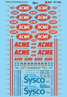 Microscale ACME & Sysco Refrigerated Trailers HO Scale Model Railroad Decal #871453