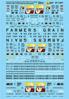 Microscale Farmers Grain FarMarCo Hoppers HO Scale Model Railroad Decal #871491