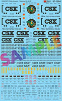 Microscale CSX Trinity Covered Hoppers (Replaces #460-4212) HO Scale Model Railroad Decal #871504