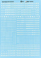 Microscale Alphabets & Numbers Railroad Gothic White HO Scale Model Railroad Decal #90101
