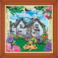 Masterpiece Delphinium Cottage 308pcs Jigsaw Puzzle 0-599 Piece #31514