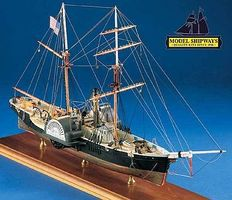Model-Shipways Harriet Lane Gunboat Wooden Model Ship Kit 1/96 Scale #2010