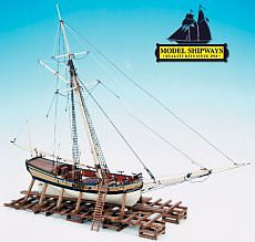 Model Shipways Armed Virginia Sloop 1768 -- Model Ship Kit -- 1/48 Scale -- #2160