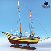 Model Shipways Glad Tidings Pinky Schooner -- Wooden Model Ship Kit -- 1/24 Scale -- #2180