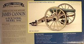 Model-Shipways James Cannon 6-Pounder 1841 Model Cannon Kit 1/16 Scale #4007