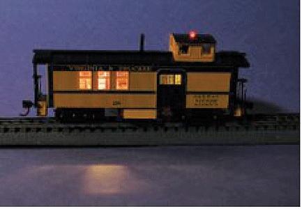 Caboose Interior Lighting Kit (Yeloglo) -- Model Railroad Lighting -- #100ycb01 & Caboose Interior Lighting Kit (Yeloglo) Model Railroad Lighting ...