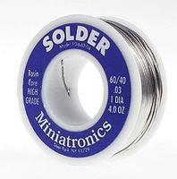 Miniatronics Rosin Core Solder 4oz. 60/40 Model Railroad Electrical Accessory #1064004