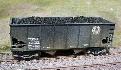 Motrak Models Coal Loads for Accurail 50 Ton 2-Bay Hopper (2-Pack) -- HO Scale Model Train Freight Car -- #81100