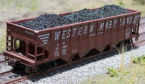 Motrak Coal Loads for Bowser 70 Ton Quad Hopper (2-Pack) HO Scale Model Train Freight Car Load #81400
