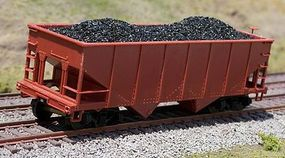 Motrak Coal Loads for Bowser Gla 2-Bay Hopper (2-Pack) HO Scale Model Train Freight Car Load #81401