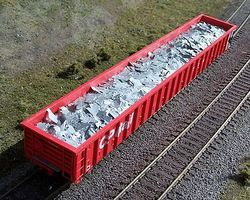 Motrak Scrap Aluminum Load for ExactRail CP Mill Gondola HO Scale Model Train Freight Car Load #81508