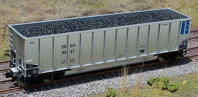 Motrak Models Resin Coal Loads for Walthers Bethgon Hopper (2) -- HO Scale Model Train Freight Car Load -- #81707