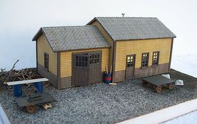 Motrak MOW Shed Structure Kit HO Scale Model Railroad Building #83004