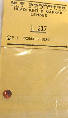 M V Products .221 Amber (1) Headlight Set -- Miscellaneous Train Parts -- #217