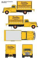 Classic-Metal-Works 1941-1946 Chevrolet Box Truck Sunshine Biscuits HO Scale Model Railroad Vehicle #30333
