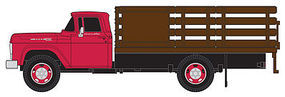 Classic-Metal-Works 1960 Ford Stakebed Truck Monte Carlo Red Cab HO Scale Model Railroad Vehicle #30413