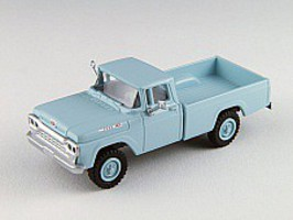 Classic-Metal-Works F-100 4x4 Pickup Skymist Blue HO Scale Model Railroad Vehicle #30472