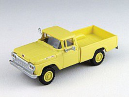Classic-Metal-Works F-100 4x4 Pickup Yellow HO Scale Model Railroad Vehicle #30474