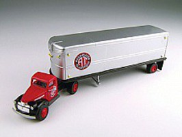 Classic-Metal-Works 41/46 Chevy Tractor Trailer AT Transportation HO Scale Model Railroad Vehicle #31165