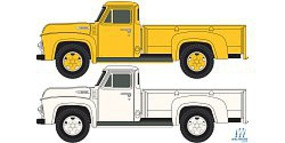Classic-Metal-Works 54 Ford Pickup Yellow/White N Scale Model Railroad Vehicle #50361