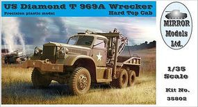 Mirror 1942 US Diamond T 969A Wrecker with Hardtop Cab Plastic Model Military Vehicle 1/35 #35802