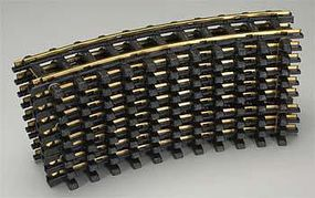 New-Bright (bulk of 6) Holiday Express Curved Track (6) G Scale Brass Model Train Track #21000