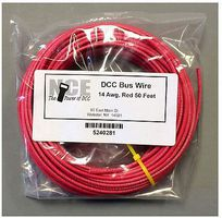 NCE DCC Main Bus Wire Red 14 AWG 50 Feet Model Railroad Hook Up Wire #281