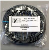 NCE DCC Main Bus Wire Black 14 AWG 100 Feet Model Railroad Hook Up Wire #282