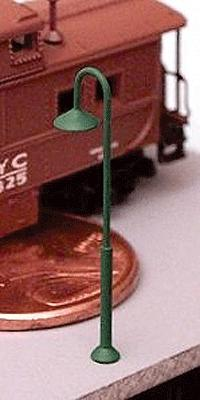 Ngineering 18' Curved-Neck Streetlight Kit (8-Pack) -- Z Scale Model Railroad Streetlight -- #nk0181