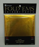 Niji Origami Paper- 25 Gold Sheets (5-7/8sq.)