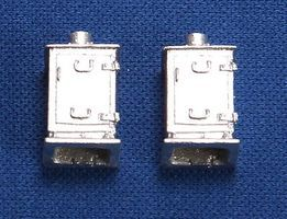 NJ Relay Cabinet - Low, Silver (2) HO Scale Model Railroad Trackside Accessory #1337