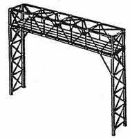 NJ Two-Track Signal Bridge Kit Silver - HO-Scale