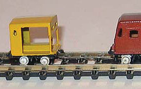 NJ Closed Side Speeder Assembled (Boxcar Red) N Scale Model Railroad #6291