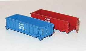 NJ 20 Yard Roll-Off Sled Garbage Bin C. Allen Carting (2) N Scale Model Accessory #6623