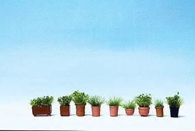 Noch Foliage Plants in Flower Pots Kit pkg(9) HO Scale Model Railroad Building Accessory #14032