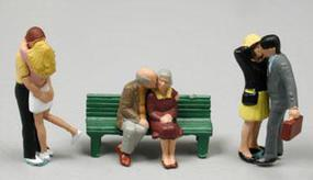 Noch Couples Kissing (3 Pair) HO Scale Model Railroad Figure #15510