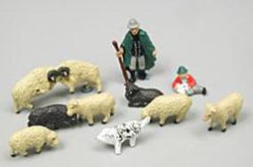 Noch Shepherd w/ Dog & Sheep HO Scale Model Railroad Figure #15750